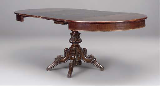 A German mahogany extending di