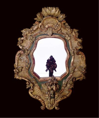 A GILTWOOD, GESSO AND POLYCHRO