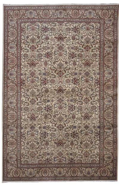 A fine Khakian Tabriz carpet,