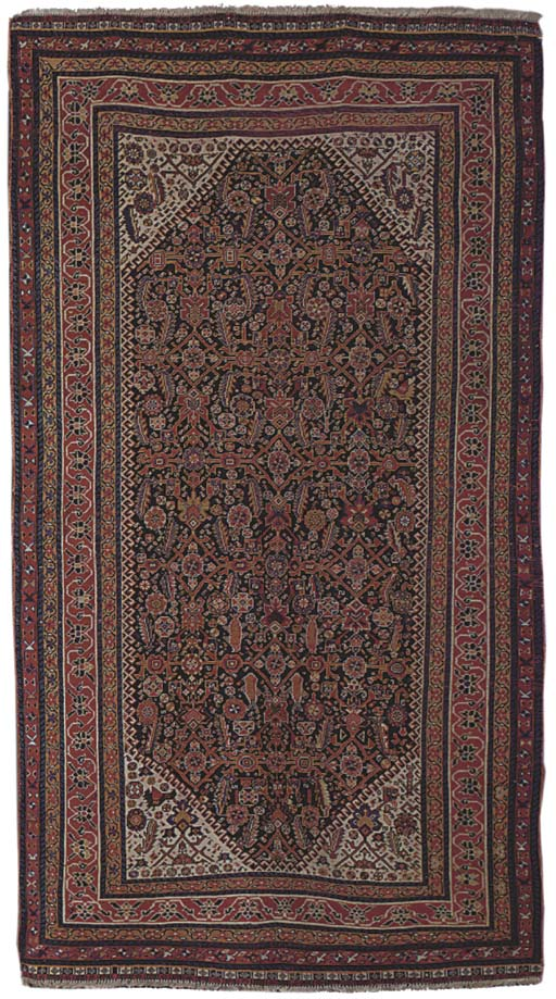 An antique Qashqai rug, South-