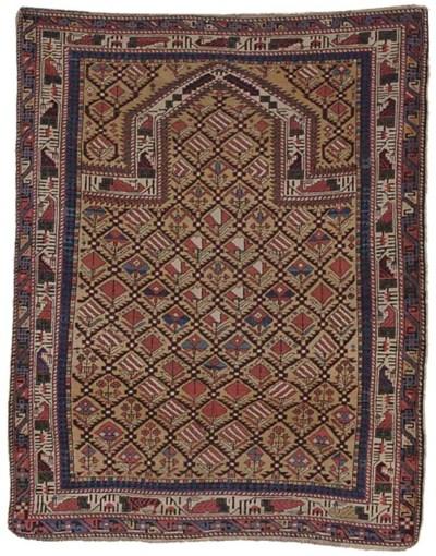 An antique Marasali Prayer rug