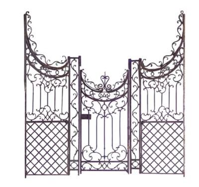 A SET OF WROUGHT IRON GATES