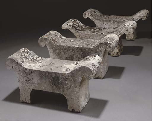 A GROUP OF FOUR FRENCH STONE S