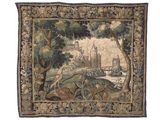 AN AUBUSSON VERDURE TAPESTRY