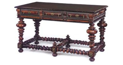 A PORTUGUESE ROSEWOOD AND BRAS