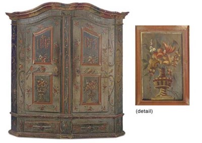 A TYROLEAN POLYCHROME DECORATE
