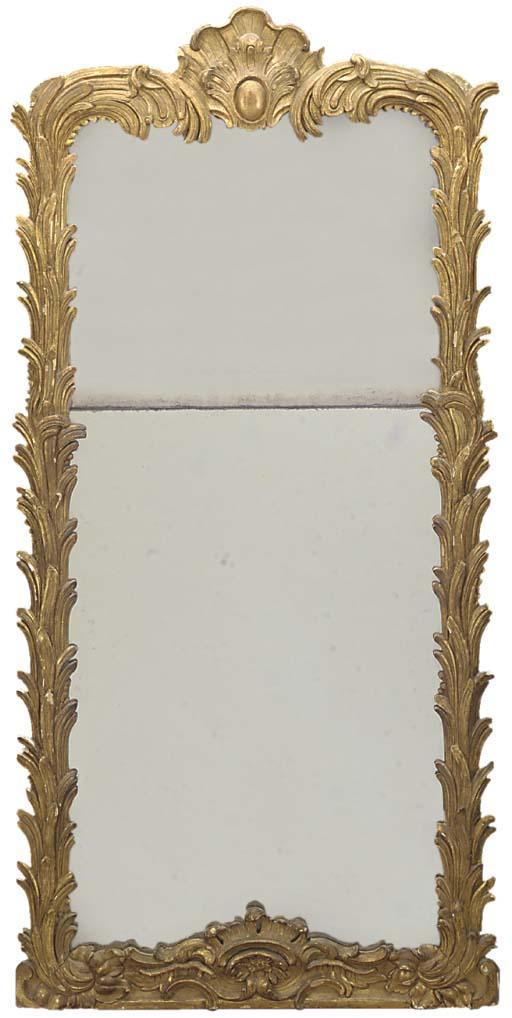 A LOUIS XVI GILTWOOD PIER GLAS