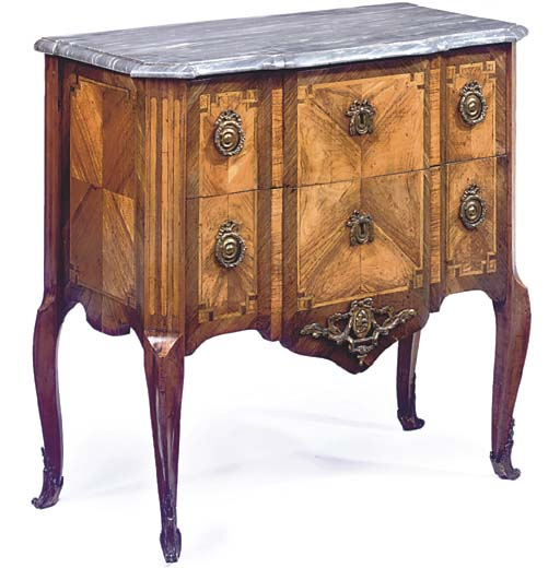 A FRENCH TRANSITIONAL GILT-MET