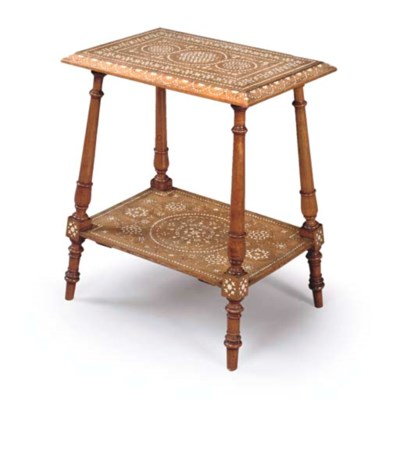 AN INLAID WALNUT SIDE TABLE