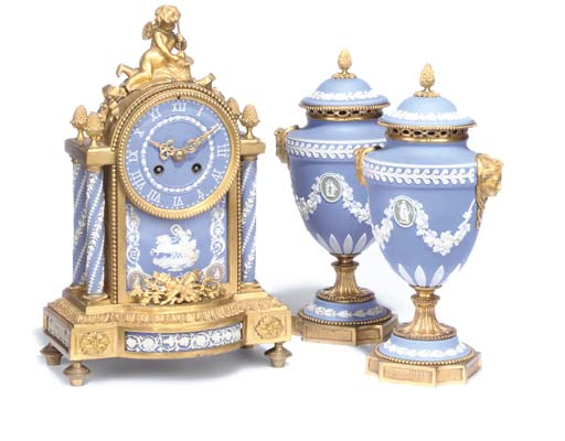 A WEDGWOOD PORCELAIN AND GILT