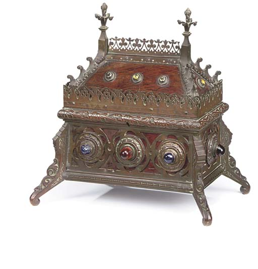 A VICTORIAN BRONZE MOUNTED ROS