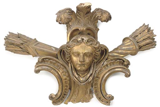 A GILTWOOD AND COMPOSITION CRE