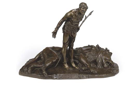 A FRENCH BRONZE GROUP OF A GLA