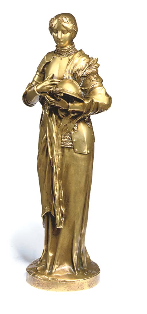A FRENCH GILT BRONZE FIGURE OF