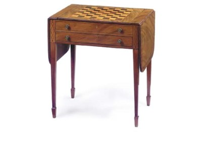 A REGENCY MAHOGANY AND INLAID