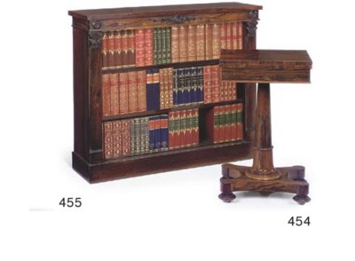 A WILLIAM IV ROSEWOOD OPEN BOO