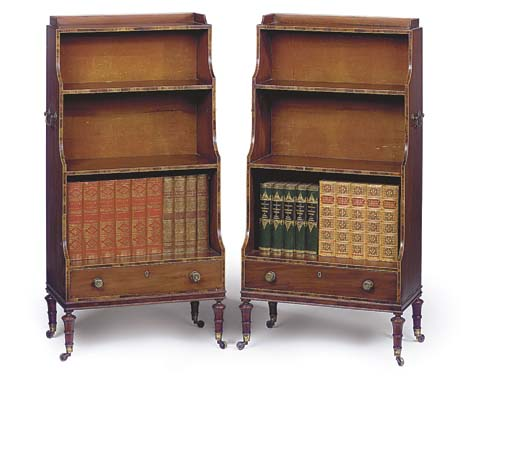 A PAIR OF MAHOGANY, ROSEWOOD B