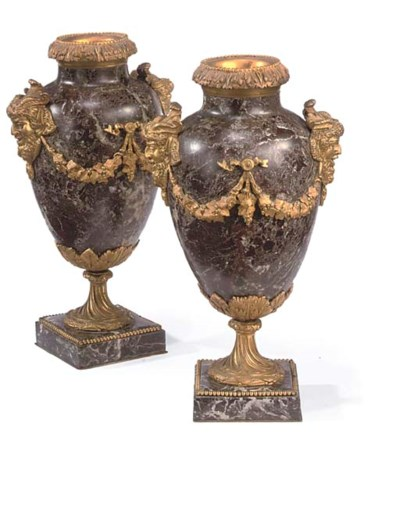 A PAIR OF GILT BRONZE AND ROSS