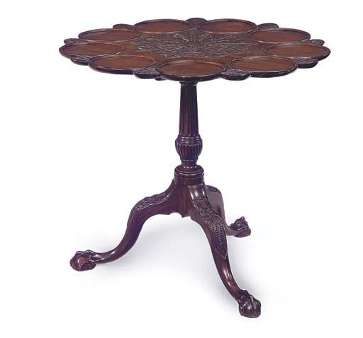 A MAHOGANY SUPPER TABLE