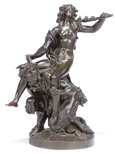 A FRENCH BRONZE GROUP OF A SAT