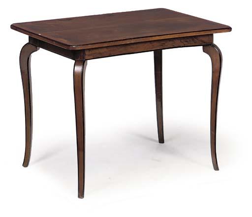 A WALNUT CENTRE TABLE