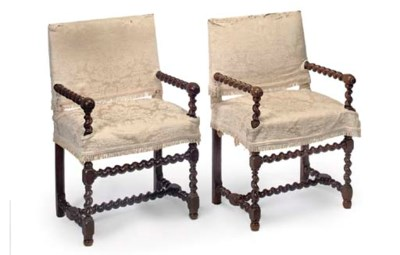 A MATCHED PAIR OF WALNUT OPEN