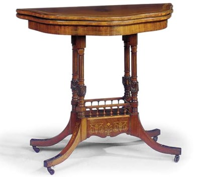 A LATE VICTORIAN SATINWOOD CRO