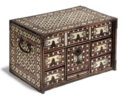 A INDO-PERSIAN IVORY-INLAID AN