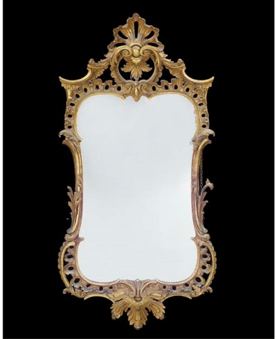 A CARVED GILTWOOD AND GESSO MI