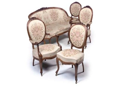A FRENCH ROSEWOOD SALON SUITE