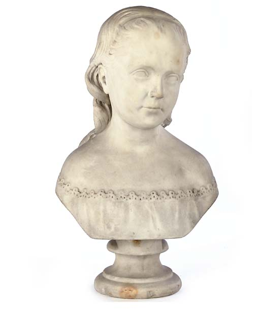A SCOTTISH CARVED MARBLE BUST
