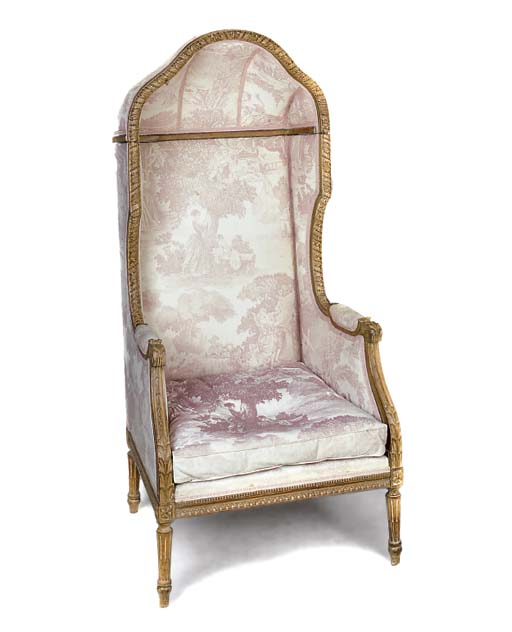 A FRENCH BEECH BERGERE