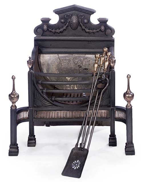 A LATE VICTORIAN CAST-IRON AND
