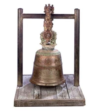A BURMESE BRONZE BELL