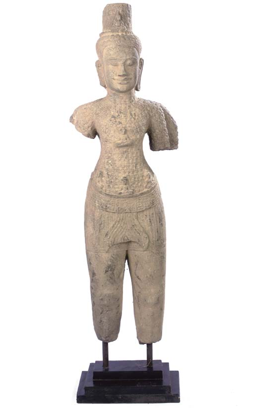 AN INDIAN STONE FIGURE OF A FE