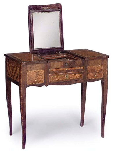 A FRENCH TUILIPWOOD, ROSEWOOD
