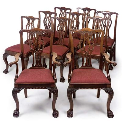 A SET OF TEN LATE VICTORIAN MA