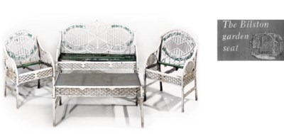 A SUITE OF CAST IRON GARDEN OR