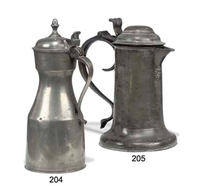 A SCOTTISH PEWTER 'TAPPIT-HEN'