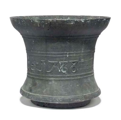 A GEORGE II BRONZE MORTAR