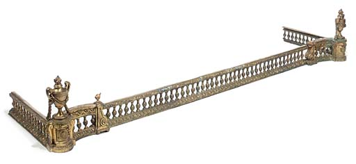 A FRENCH GILT-BRONZE FENDER