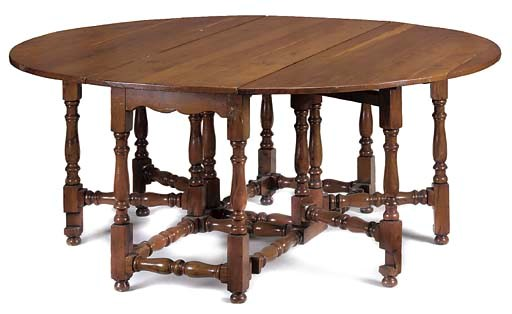 A YEWWOOD GATELEG TABLE