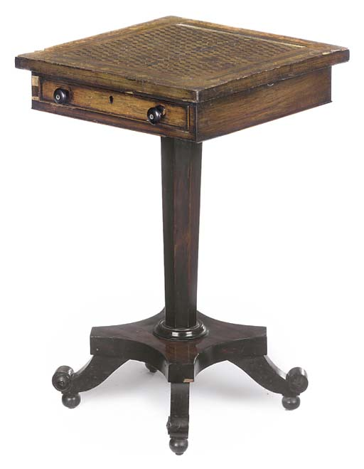 A WILLIAM IV ROSEWOOD AND PARQ