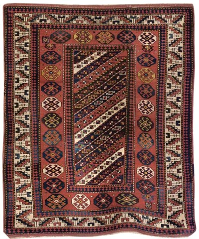 An anusual antique Kazak rug,