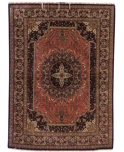 Extremely fine silk Hereke rug