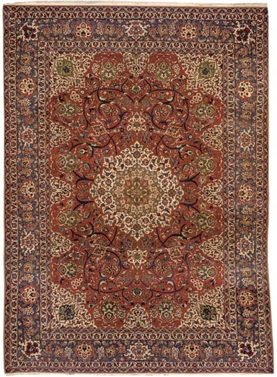 Extremely fine Isfahan carpet,
