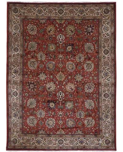 A fine Sherkat Tabriz carpet,