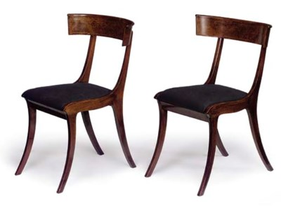 A PAIR OF DANISH STAINED WALNU