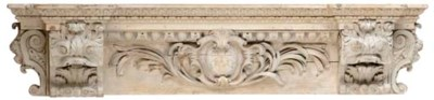 AN ENGLISH CARVED LIMEWOOD AND