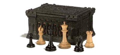 A VICTORIAN WEIGHTED EBONY AND
